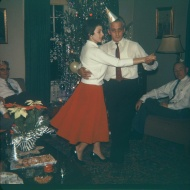 Actually I wasn't yet alve -- this was at my grandparents house, Christmas circa 1959